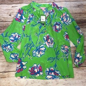 Lilly Pulitzer Elsa New Green Tossed Size S NWT